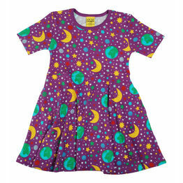DUNS Mother Earth - Bright Violet   Skater Dress SHORT Sleeve