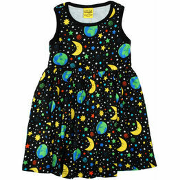 DUNS Mother Earth Black  Sleeveless Dress w Gathered Skirt
