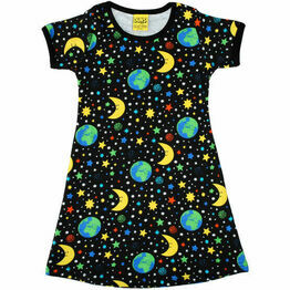 DUNS Adult Mother Earth Black Short Sleeve Dress