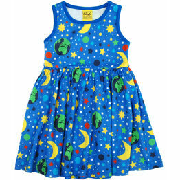 DUNS Mother Earth Blue  Sleeveless Dress w Gathered Skirt