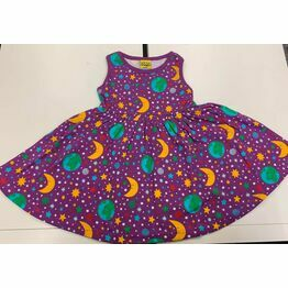 DUNS Mother Earth Bright Violet  Sleeveless Dress w Gathered Skirt