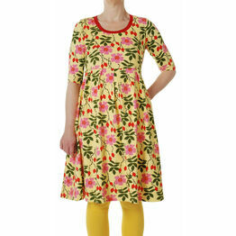 DUNS Adult Rosehip  Dress with high waist and scooped neckline