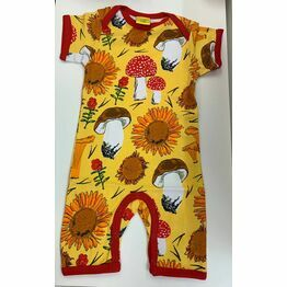 DUNS Sunflowers and Mushrooms Sunshine Yellow  Summer Suit
