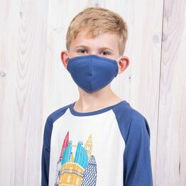 Kite Child's Organic Cotton Face Covering - Navy