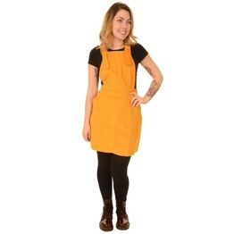 Run & Fly Gold Corduroy Pinafore