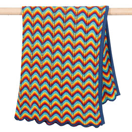 Kite Rainbow wave knit blanket