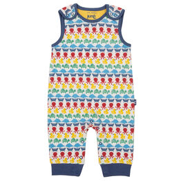 Kite Splash stripe dungarees