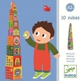 Djeco 10 Building blocks - Vehicle