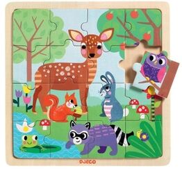Djeco Puzzlo Wooden Forest Puzzle