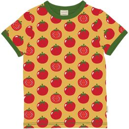 Maxomorra Short Sleeve TOMATO Top