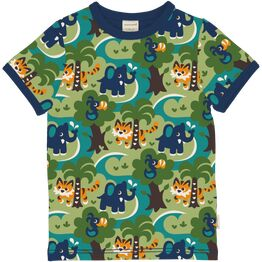 Maxomorra Short Sleeve JUNGLE Top