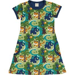 Maxomorra Short Sleeve JUNGLE Dress