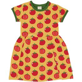 Maxomorra TOMATO Short Sleeve Spin Dress