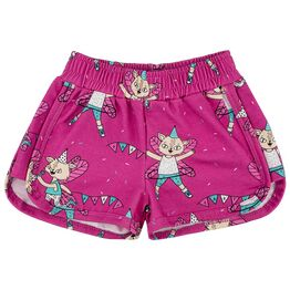 Raspberry Republic Shorts Flying Kitty Pink