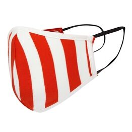 Piccalilly Adults Face Covering - Red Stripe