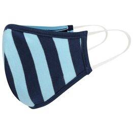 Piccalilly Adults Face Covering - Blue stripe