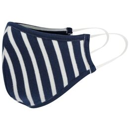 Piccalilly Kids Face Covering - White & Navy