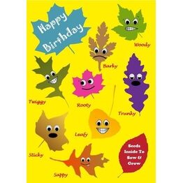 Seeds With Love Kids Birthday Card & Seeds - Rooty & Friends