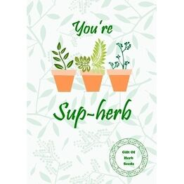 Seeds With Love Greeting Card & Seeds - Pun-tastic Herb