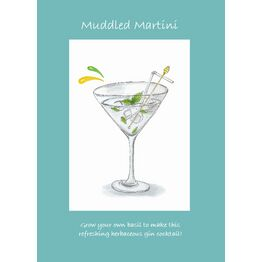 Seeds With Love Greeting Card & Seeds - Muddled Martini