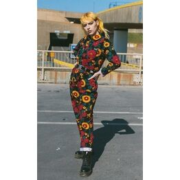Run & Fly Retro Floral Boiler Suit