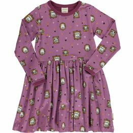 Maxomorra Family Album Long Sleeved Spin Dress