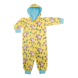 Duns Hooded Onesie - Pig - Aspen Gold