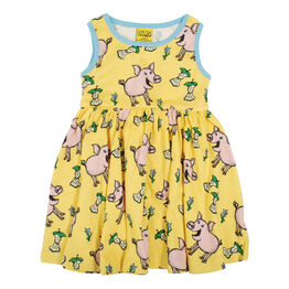 Duns Sleeveless Dress With Gathered Skirt - Pig - Aspen Gold