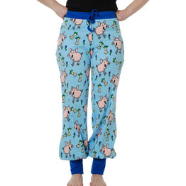 Duns Adult Baggy Pants - Pig - Blue