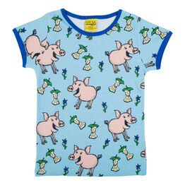 Duns Short Sleeve Top - Pig - Blue