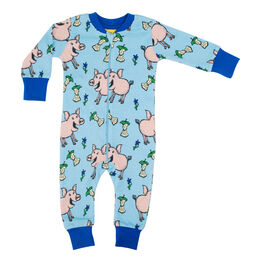 Duns Zip Suit - Pig - Blue
