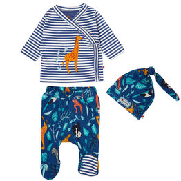 Piccalilly 3 Piece Baby Set - Wildlife