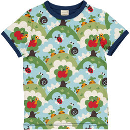 Maxomorra Garden Short Sleeve Top