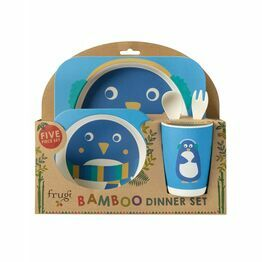 Frugi Bamboo Dinner Set-Penguin