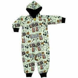 Duns Music Lined Hooded Onesie