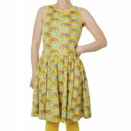 Adult Duns Elephant Walk Yellow sleeveless gather dress