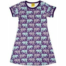 Duns Elephant Walk Purple Short Sleeve Dress