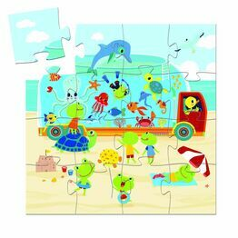 Djeco Silhouette 16 Piece Puzzle - The Aquarium