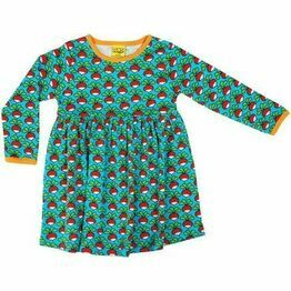 DUNS Turquoise Radish Long Sleeve Gather Dress