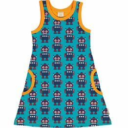 Maxomorra Classic Robot Sleeveless Dress