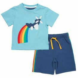 Kite Rainbow Plane T-Shirt & Shorts Set