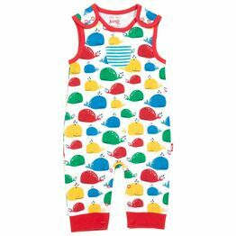 Kite Rainbow Whale Dungarees (GOTS)