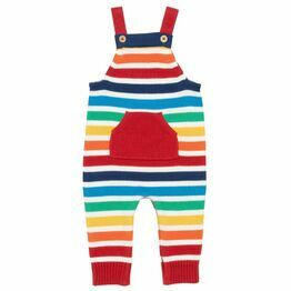 Kite Rainbow Knit Dungarees (GOTS)