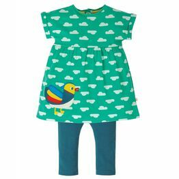 Frugi Olive Outfit, Pacific Aqua Clouds/Duck