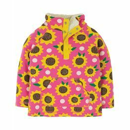 Frugi Snuggle Fleece, Flamingo Sunflowers