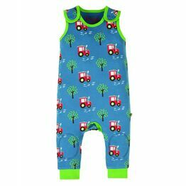 Frugi Kneepatch Dungarees, Tractor Fields