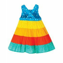 Frugi Mabel Sun Dress, Rainbow Hotchpotch