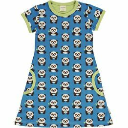 Maxomorra Playful Panda Short Sleeve Dress