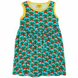 Duns Turquoise Radish Sleeveless Gather Dress 110, 116, 122
