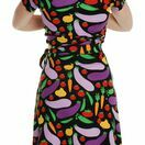 DUNS Adult Cultivate Black Short Sleeve Wrap Dress additional 2